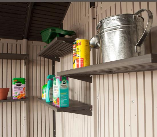 Lifetime 5 Piece 30x14 in. Shelf Accessory Kit for 11 ft Sheds (0115) - Compatible for lifetime 11foot size sheds