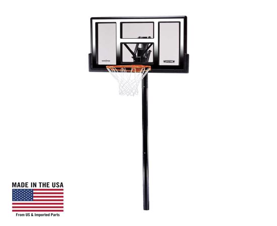 """Lifetime 50"""" Adjustable In-Ground Basketball Hoop (1601) - Players of any age or skill can enjoy the game at their level."""