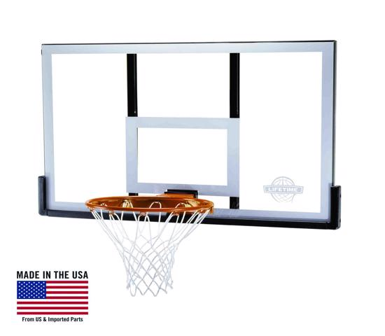 Lifetime 50 in. Shatter Proof Steel-Framed Basketball Backboard with Slam-It Pro Rim (79910) - work on your skills anytime.