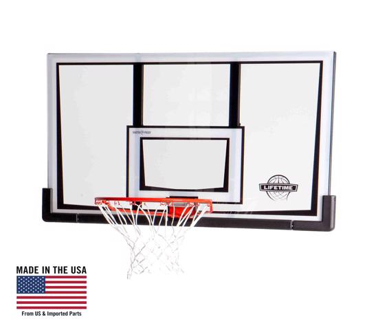 Lifetime 52 in. Basketball Backboard & Rim Combo (90087) - Enjoy the versatility of a backboard combo.