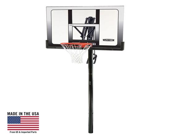 Lifetime 52 in. In-Ground Shatter Proof Basketball System w/ Slam-It Rim (71281) - Ideal investment for family fun.