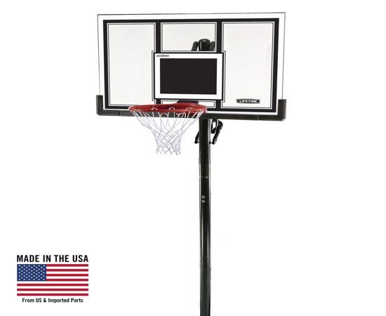 Lifetime 54 in. In-Ground Basketball Hoop - Square Backboard, Power Lift, Slam-It Pro Rim (71525) - Great investment, built for fun and built to last.
