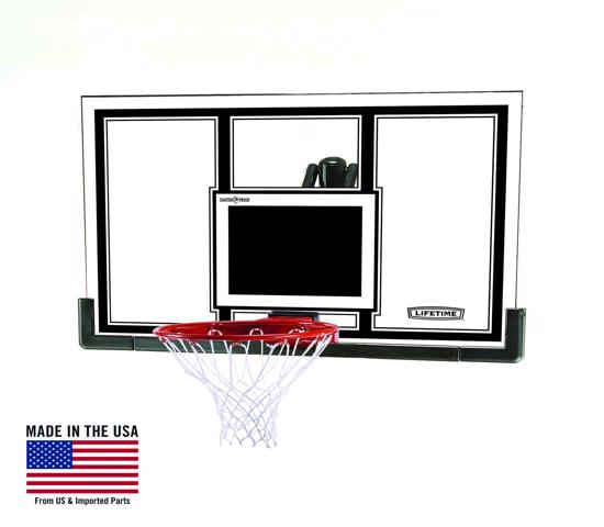 Lifetime 54 in. Steel-Framed Basketball Backboard, Slam-it Pro Rim (71526) - Bring the game to your home and play the way you want