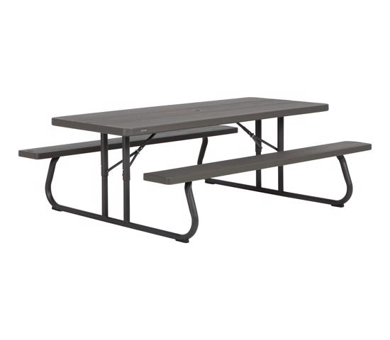 Lifetime 6-Foot Faux Wood Picnic Table (60105) - Convenient transportation to campgrounds, family reunions, or winter storage
