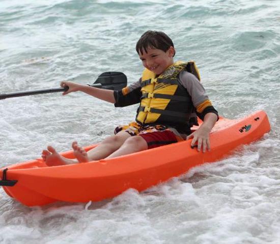 Lifetime 6 ft Wave Youth Kayak w/ Paddle - Orange (90154) - Excellent for kids recreational kayaking.