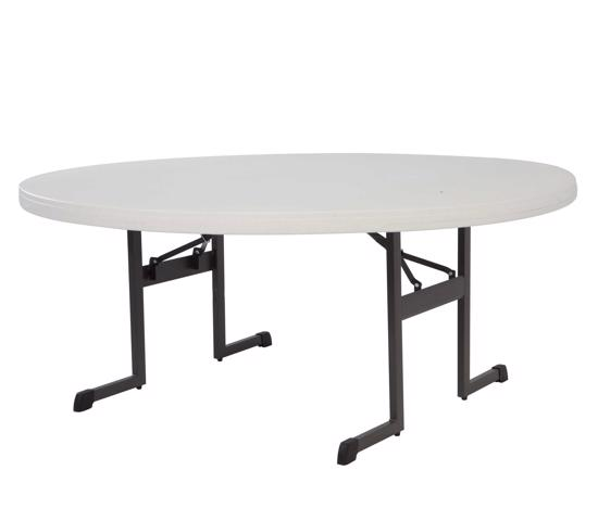 Lifetime 60 in. Professional Round Table - Almond (80252) - Great for parties and big events.