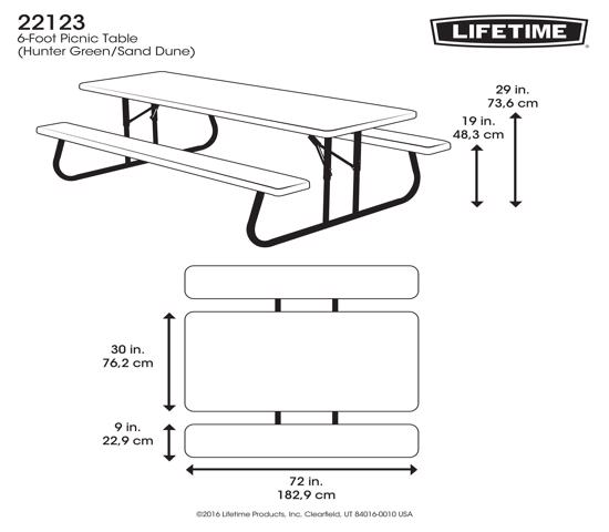 Lifetime 6 ft. Folding Picnic Table - Hunter Green (22123) - Best folding table for picnic adventures.