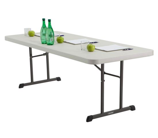 Lifetime 6 ft. Professional Grade Folding Table - Almond (80249) - Easy to transport and great for picnic use.