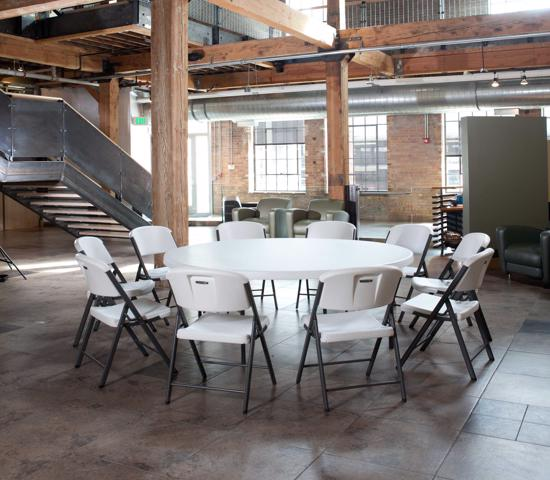 Lifetime 72 in. Commercial Round Table - White (22673) - Strong and best table for parties and events.