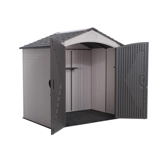 Lifetime 7x4.5 ft Plastic Outdoor Storage Shed Kit (60057) - Great addition to your backyard.