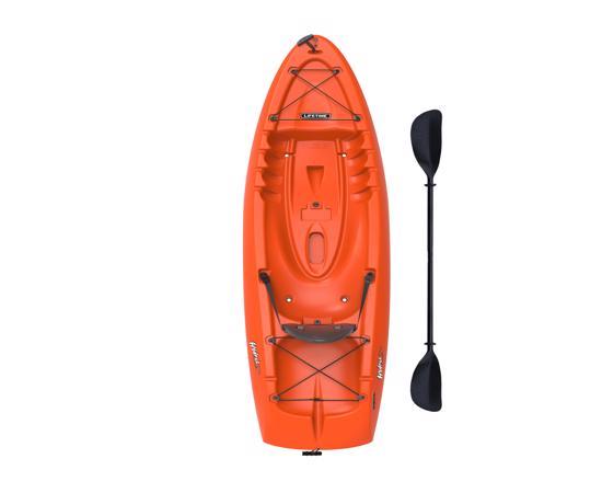 Lifetime 8.5 ft Hydros Plastic Kayak w/ Paddle - Orange (90595) - Enhance your paddling experience.