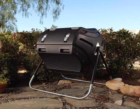 Lifetime 80 gal. Compost Tumbler with How To Compost DVD (60058) - Great composter to reduce, reuse and recycle waste.