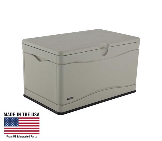 Lifetime 80 Gallon Outdoor Storage Box (60059) - Designed to accept do-it-yourself dividers so you can keep contents organized.