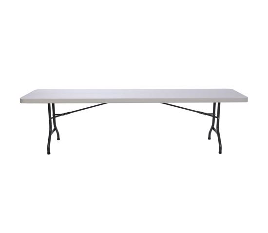 Lifetime 8 ft. Commercial Plastic Folding Banquet Table - Almond (22984) - Great for another event and banquet dinner.