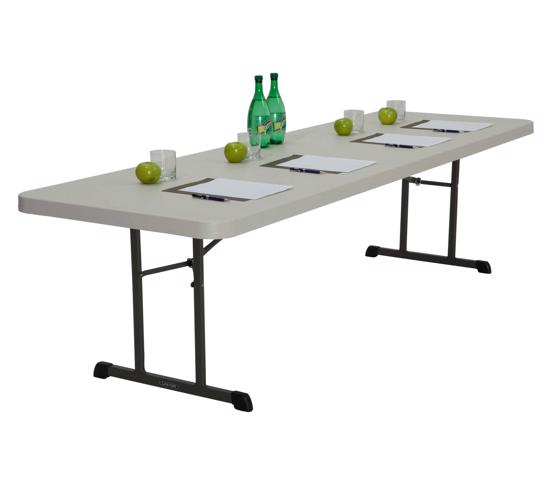 Lifetime 8 ft Professional Grade Folding Table Single Pack - Almond (80250) - Light and convenient for transport.