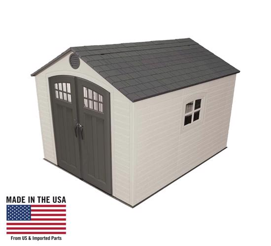 Lifetime 8x10 Storage Shed Kit w/ Floor (60241) - Perfect solution to your storage needs.