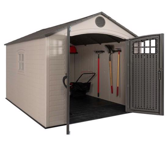 Lifetime 8x10 Outdoor Storage Shed Kit w/ Horizontal Siding - Desert Sand (60238) - Excellent for storing items.