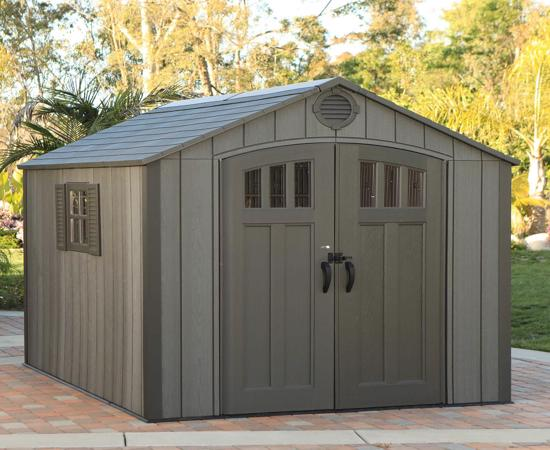 Lifetime 8 Ft. x 10 Ft. Outdoor Storage Shed *NEW Style* (60211U) - Wider space ideal for storage needs