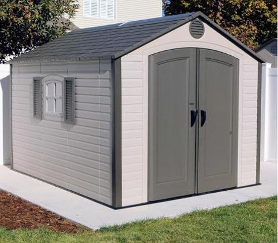 Lifetime 8x10 ft Outdoor Storage Shed Kit (60056) - Beautiful and perfect addition to your backyard.