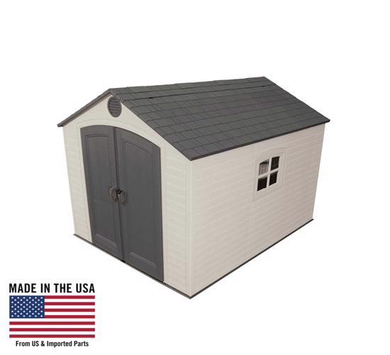 Lifetime 8x10 ft Outdoor Storage Shed Kit (6405) - Ideal solution to your storage needs.