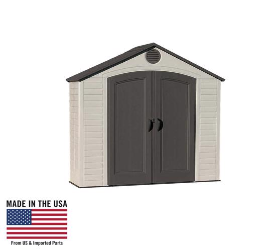 Lifetime 8x2.5 ft Plastic Storage Shed Kit (6413) - Great addition for your storage needs.