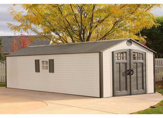 Lifetime Sheds 8x20 Plastic Storage Shed w/ 2 Windows (60120) - Excellent solution to your storage needs.