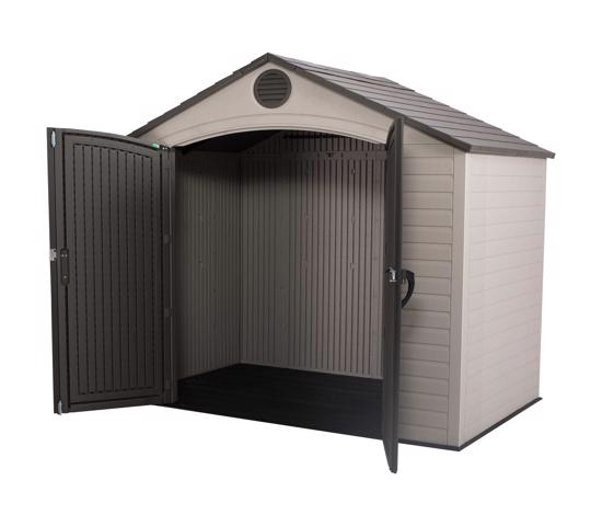Lifetime 8x5 Plastic Storage Shed Kit (6418) - Best for storing garden tools.