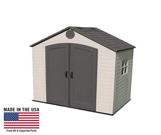 Lifetime 8x5 Storage Shed Kit with Window (6406) - Great addition to your backyard.