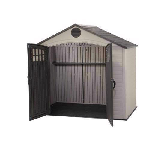 Lifetime 8x5 Ft Outdoor Storage Shed Kit with Window (60113) - Great storage to keep everything in its place