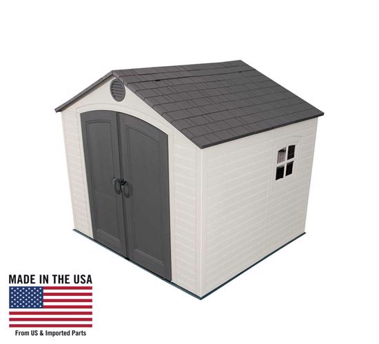 Lifetime 8x7.5 ft Plastic Outdoor Storage Shed Kit (6411) -  Best shed addition to your backyard