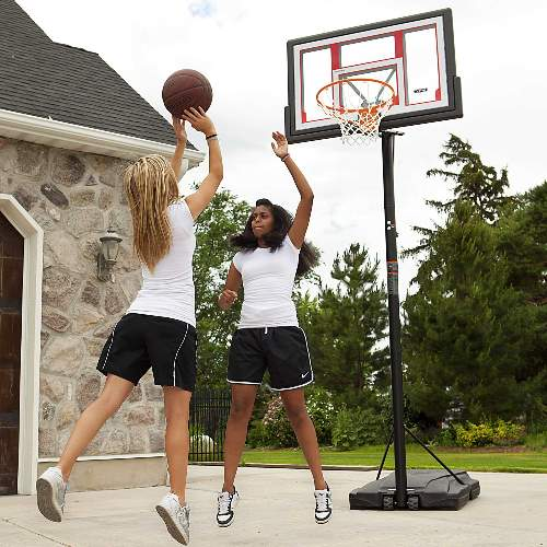 Lifetime 48-inch Adjustable Portable Basketball Hoop (90491) Enjoy hours of playing basketball in your own home every day with this portable hoop without any worries!