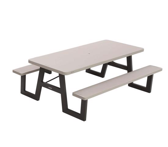 Lifetime A-Frame Folding Picnic Table - Putty (60030) - Experience the great outdoors picnic table
