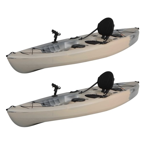 Lifetime Two pack Angler Tamarack kayaks wo paddles - Recon Fusion (90922) - Paddle in pair!