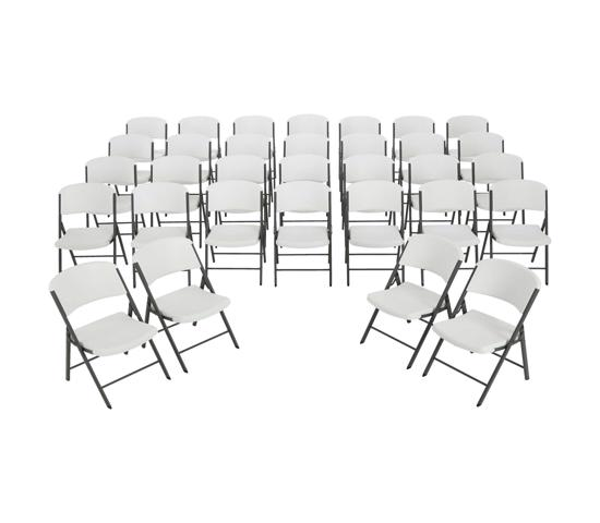 Lifetime Classic Commercial Folding Chairs 32 Pack - White (2802) - Great for parties and big event!