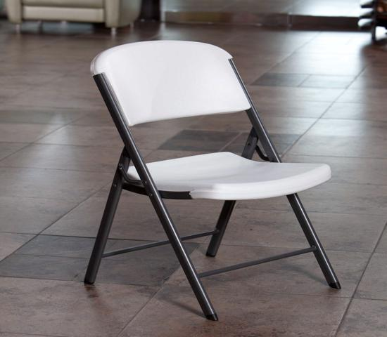 Lifetime Commercial Contoured Folding Chair Single Pack - White (22804) - Comfortable and convenient chair.