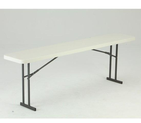 Lifetime Commercial Folding 8 ft Seminar Table - White Granite (80177) - Best addition to your next office event.