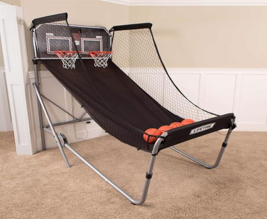 Lifetime Double Shot Arcade Style Basketball Hoops Game (90648) - Create a fun arcade atmosphere, providing your family with years of excitement and fun.
