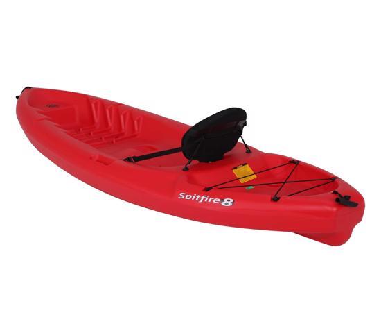 Lifetime Emotion Spitfire 8 ft. Sit-On-Top Kayak Red (90244) - Fit from kids to adult paddler.