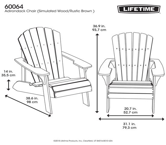 Lifetime Faux Wood Adirondack Chair (60064) - Best addition for patio.