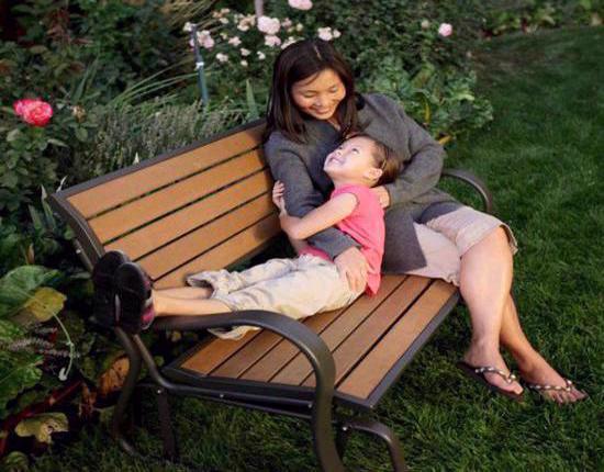 Lifetime Faux Wood Glider Bench Kit (60055) - Best relaxation in your garden or on your patio.