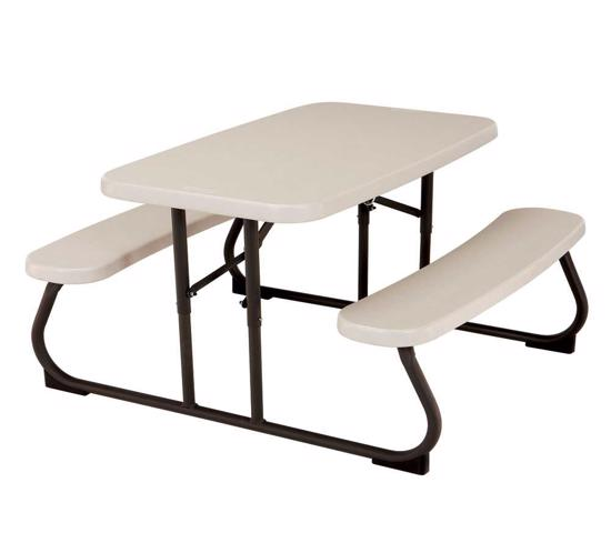 Lifetime Kids Folding Picnic Table - Almond (280094) -  Great for kids projec and activities.