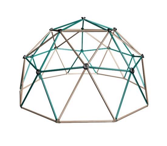 Lifetime Kids Metal Dome Climber - Green and Tan (90136) - Entertain your kids right in the convenience and safety of your own backyard.