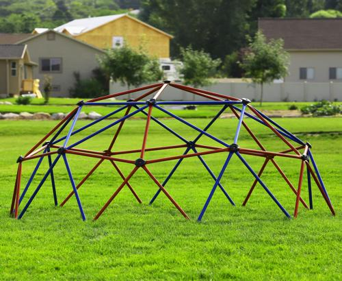 Lifetime Kids Metal Dome Climber - Red and Blue (101301) - Kids can play safely and comfortably.