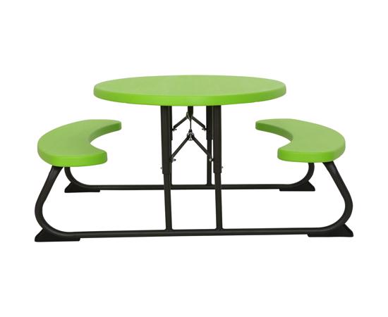 Lifetime Kids Oval Folding Picnic Table - Lime (60132) - Enjoy and have fun with perfect kids picnic table.