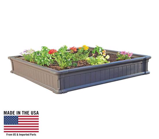 Lifetime 3-Pack Raised Garden Beds -3 Beds, No Vinyl Enclosures (60069) - Perfect for square foot gardening.