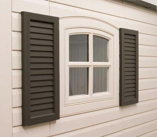 Lifetime Shed Shutters Kit for 8 ft and 11 ft Sheds (0111) - Bring style to windows of your Lifetime shed.