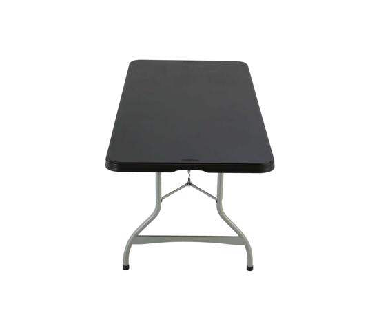 Lifetime Single-Pack 6ft Commercial Stacking Folding Table - Black (280350) - Nesting design that allows tables to stack together.