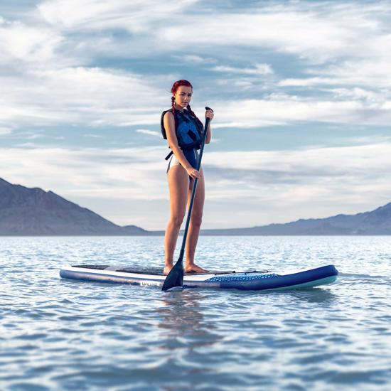 Lifetime Vista 110 Inflatable Stand-Up Paddleboard - White (90934) This paddle board will help you enjoy your stay in the water.