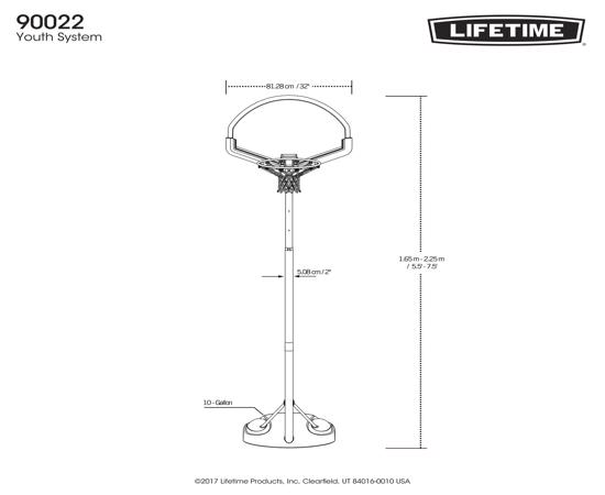 Lifetime Youth Kids Portable Basketball Hoop (90022) - Great opportunity for fun and exercise.