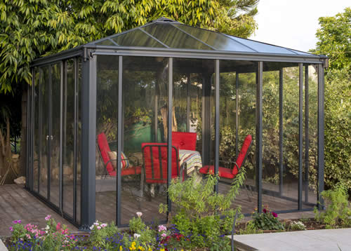Palram 12x12 Ledro Enclosed Gazebo Kit - Gray/Bronze (HG9192) This gazebo kit will let you enjoy your outdoor activities.